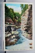 New York NY Ausable Chasm River Postcard Old Vintage Card View Standard Souvenir