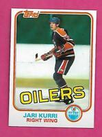 1981-82 TOPPS # 18 OILERS JARI KURRI  NRMT-MT ROOKIE CARD (INV# C7177)