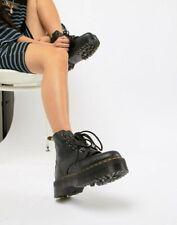 Doc Marten Sinclair Black Pebbled Leather Zip Lace Platform Boots Size 10 42