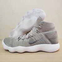 Nike Hyperdunk 2017 Flyknit React Nikelab Pale Grey Silver Size 17 (917726-002)