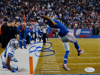 Odell Beckham Autographed 8x10 One Hand Catch Horizontal Photo- JSA Auth