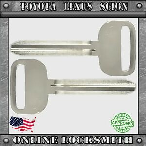 2 New Toyota Scion Keys TR47 X217 Uncut Blank Ignition Replacement Key 1993 Up