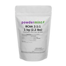 BCAA Supplement Powder 2:1:1 Instantized 1000g (2.2 lb) 100% Pure Non-GMO
