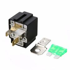 12V 30A On/Off Car 4-Pin Normally Open Contacts Fused Relay With Metal Bracket