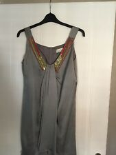 Ladies Evening Dress, Size 12 In Silver Grey By Designer DAMSEL In a DRESS