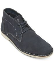 Kenneth Cole Men's Navy Passage Suede Boots Shoes