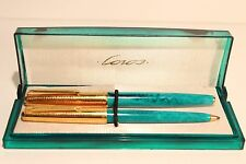 """VINTAGE USSR RUSSIA SET OF FOUNTAIN PEN WITH 14K NIB AND BALLPOINT PEN""""UNION"""""""