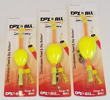 "3 New Duz it All by Rod-N-Bobbs Yellow Fixed & Slip Bobber 1ea 1.25"" 1.5"" 1.75"""