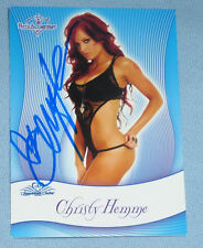 Christy Hemme Signed 2010 Benchwarmer Signature Series Card TNA WWE Diva Auto'd