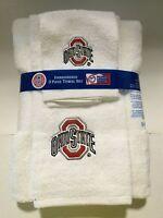 Ohio State Buckeyes University 3pc College Bath Towel Set by Northwest Co.