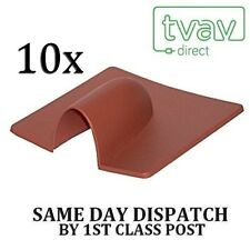 10 x BURST BRICK CABLE COVER ENTRY - BROWN