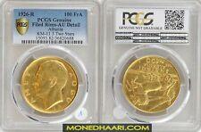 More details for 100 franga ari albania ahmet zogu 1926 pcgs au shqiperi gold coin 1926 rare