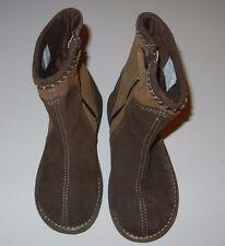 Stride Rite Greta Girls 9.5 Toddler Brown Flower Suede Leather Boots LR