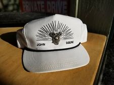 VINTAGE JOHN DEERE TRUCKER BALL HAT CAP WHITE W METAL PIN LOUISVILLE VERY RARE!