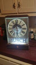Vintage Busch Beer Lighted Wall Advertisement Clock