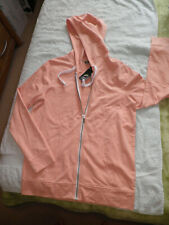 LADIES SHIMMERY PEACH FULL ZIPPED HOODIE by F&F  @ TESCO Sz SMALL