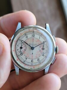 Harvard Gallet Imperial Chronograph Vintage  Snail Dial Venus 150 Swiss Made...