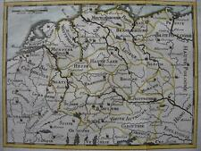 1725 - Small map GERMANY  AUSTRIA  CENTRAL EUROPE