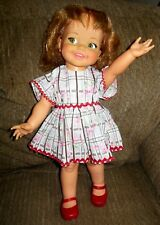 "Vintage 1967 Ideal GIGGLES DOLL 18"" w/LOVELY DRESS AND SHOES BEAUTIFUL DOLL"
