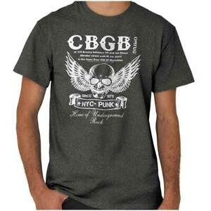Retro CBGB Home Of Underground Rock Club Adult Short Sleeve Crewneck Tee