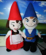 2pcs Gnomeo & Juliet un conjunto de felpa 12-in Película Muñeca Romeo Y Julieta Cartoon Juguete