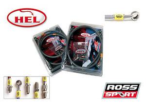 Evo 4 5 & 6 HEL Brake Line Kit - Braided Line Kit with Stainless Steel Fittings