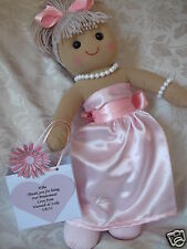 PERSONALISED FLOWER GIRL DOLL BRIDESMAID RAG DOLL GIFT