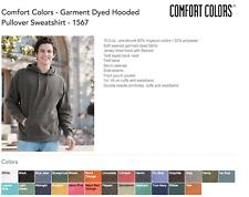 20 Comfort Colors Garment Dye Hooded Sweatshirt Bulk Lot Hoodie S-XL & Colors