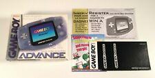Nintendo GameBoy Advance Glacier Handheld System Box,Instructions & Inserts ONLY