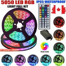 WaterProof (16ft) 5M 300LED SMD 5050 RGB Flexible Strip Light+Remote+Adapter(5A)
