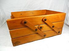Schöne 3 - fache 50er Jahre Design Dukumentenablage / folder system A 4 aus Holz