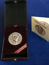 Charles M. Russell 1964 Silver Medallion Centennial of Birth with Box and COA