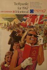 Original Plakat - Air Canada - Montreal - expo 67