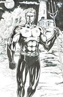 Aquaman Original Comic Art by Jay Taylor