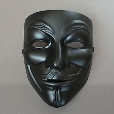 V for Vendetta Black Anonymous Guy Fawkes Adult Costume Mask