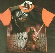 boys girls t shirt STAR WARS, orange Age 2 3 4 5 6 NEW Darth Vader Storm Trooper