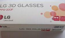 NEW ORIGINAL LG 3D GLASSES FPG-200F TV GLASSES (WHITE) WITH LENS CLIP