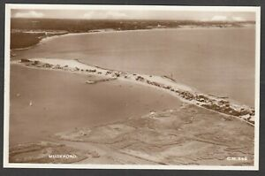 Postcard Mudeford nr Christchurch Dorset aerial view of the Coast line RP