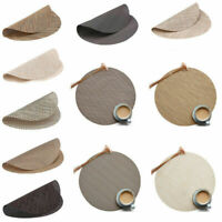 32cm Circle Heat Pad Dining Tea Table Mat Protector Anti-slip Kitchen Placemat