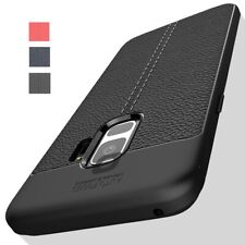 Case For Samsung Galaxy S7 S8 S9 S10 Plus Hybrid Leather Rubber Soft Case Cover