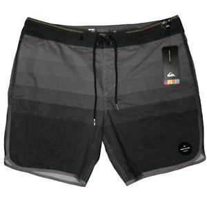 Quiksilver Men's Vista19 Beach Short Boardshort Swim Trunk Gray Black Size 40