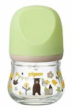 Pigeon Breastfeeding Baby Bottle Heat-resistant Glass Bear 80ml  NEW from Japan