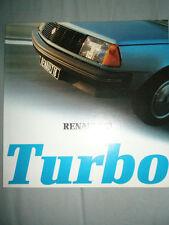 Renault 18 Turbo brochure Oct 1980