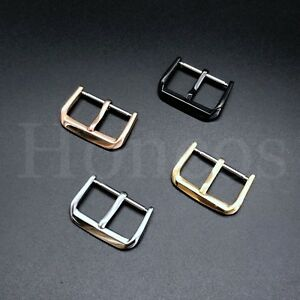 8-24 MM Spring Bar Pin Buckle Watch Rubber Leather Rubber Strap Alligator Clasp