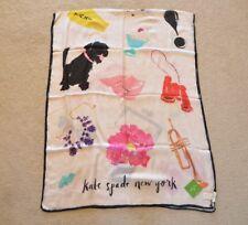Kate Spade NEW YORK cream things we love oblong Scarf