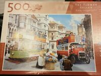 500 piece jigsaw puzzle King The Flower Seller Complete Vintage Bus