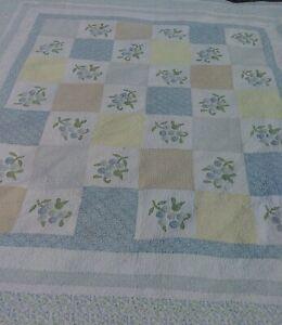 Pretty Martha Stewart Collection Patchwork W/ Flowers King Cotton Quilt