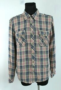Pepe Jeans BNWT Multicolored Long Sleeve Collared Plaid Men Shirt Size XL