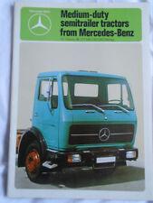 Mercedes Medium Duty Semitraler Tractors brochure Jul 1980