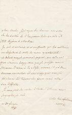 MARIE LOUISE D'AUTRICHE IMPERATRICE Lettre autographe signée sur NAPOLEON IER
